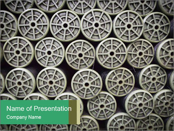Old and empty reel PowerPoint Template - Slide 1