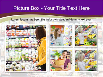 Young woman shopping PowerPoint Templates - Slide 19
