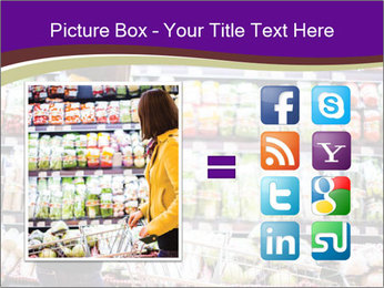 Young woman shopping PowerPoint Templates - Slide 21