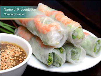 Fresh Spring Roll PowerPoint Template - Slide 1