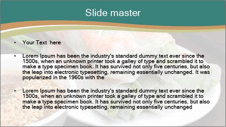 Fresh Spring Roll PowerPoint Template - Slide 2