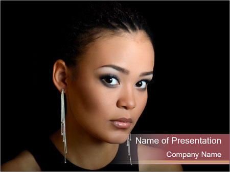 The girl the mulatto PowerPoint Templates