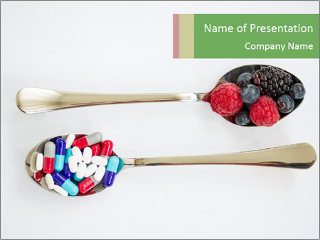 Berries and pills PowerPoint Templates