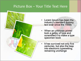 Berries and pills PowerPoint Templates - Slide 17