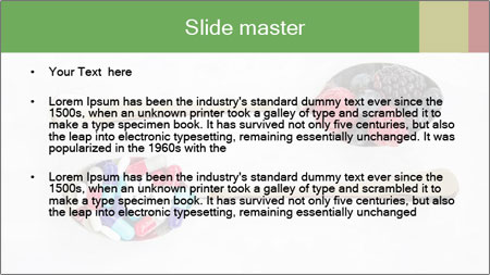 Berries and pills PowerPoint Template - Slide 2