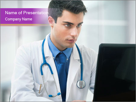 Doctor using PowerPoint Templates