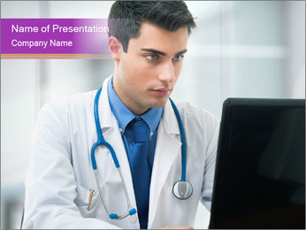 Doctor using PowerPoint Template - Slide 1
