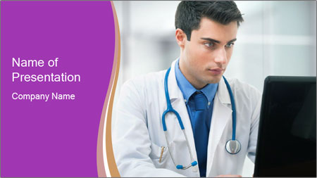Doctor using PowerPoint Template