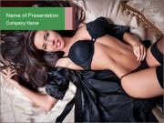 Beautiful and sexy brunette PowerPoint Templates