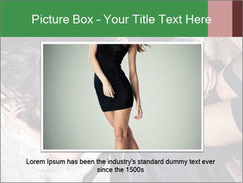 Beautiful and sexy brunette PowerPoint Template - Slide 15