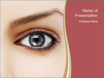 Eye PowerPoint Template - Slide 1