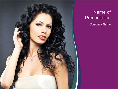 Portrait of the beautiful fashion sexy woman PowerPoint Templates
