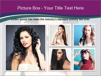 Portrait of the beautiful fashion sexy woman PowerPoint Template - Slide 19