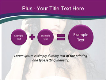 Portrait of the beautiful fashion sexy woman PowerPoint Template - Slide 75