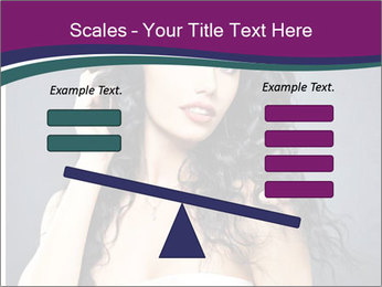 Portrait of the beautiful fashion sexy woman PowerPoint Template - Slide 89