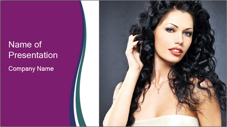 Portrait of the beautiful fashion sexy woman PowerPoint Template