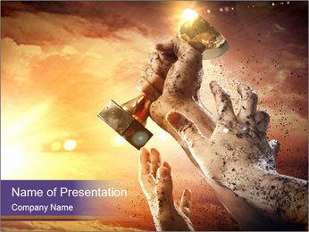 Hands squeeze PowerPoint Template - Slide 1