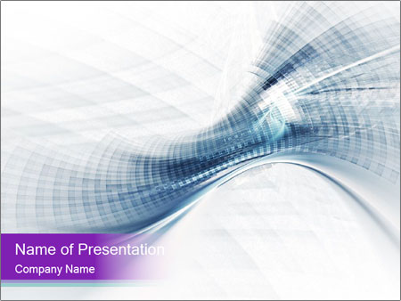 Blue and white abstract PowerPoint Templates