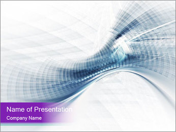 Blue and white abstract PowerPoint Templates - Slide 1