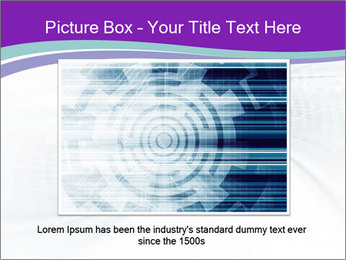 Blue and white abstract PowerPoint Templates - Slide 16