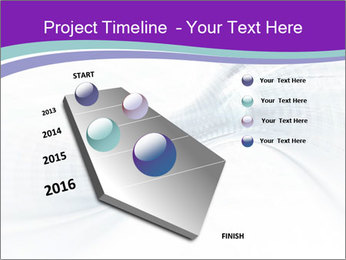 Blue and white abstract PowerPoint Templates - Slide 26