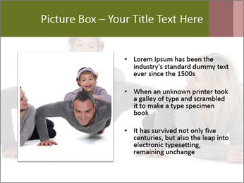 Father doing push-up PowerPoint Template - Slide 13