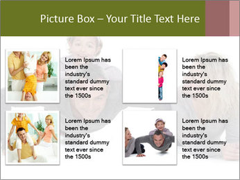 Father doing push-up PowerPoint Template - Slide 14