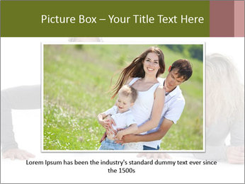 Father doing push-up PowerPoint Template - Slide 16