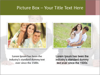Father doing push-up PowerPoint Template - Slide 18