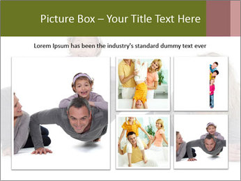 Father doing push-up PowerPoint Template - Slide 19