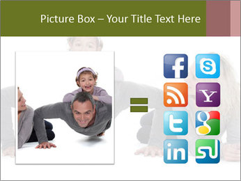 Father doing push-up PowerPoint Template - Slide 21