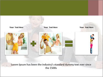 Father doing push-up PowerPoint Template - Slide 22