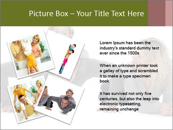 Father doing push-up PowerPoint Template - Slide 23