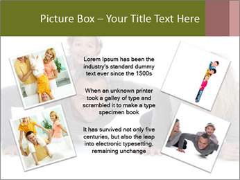Father doing push-up PowerPoint Template - Slide 24