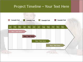 Father doing push-up PowerPoint Template - Slide 25