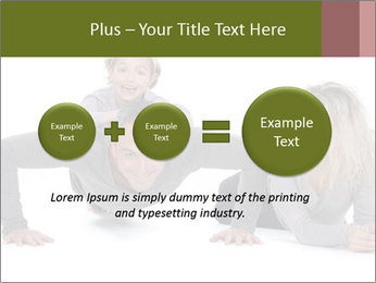 Father doing push-up PowerPoint Templates - Slide 75