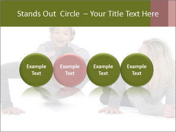 Father doing push-up PowerPoint Template - Slide 76