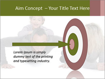 Father doing push-up PowerPoint Template - Slide 83
