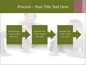 Father doing push-up PowerPoint Templates - Slide 88