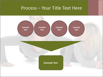 Father doing push-up PowerPoint Template - Slide 93