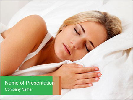 A young pretty woman PowerPoint Templates
