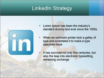 Hiker jumps PowerPoint Template - Slide 12