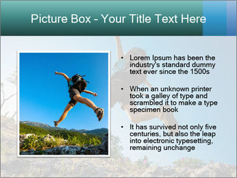 Hiker jumps PowerPoint Templates - Slide 13