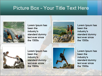 Hiker jumps PowerPoint Templates - Slide 14