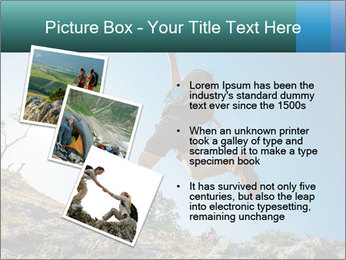 Hiker jumps PowerPoint Templates - Slide 17
