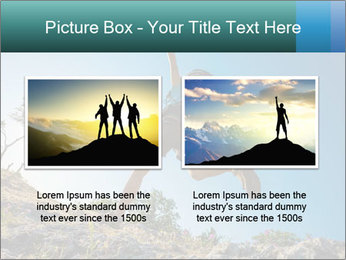 Hiker jumps PowerPoint Templates - Slide 18