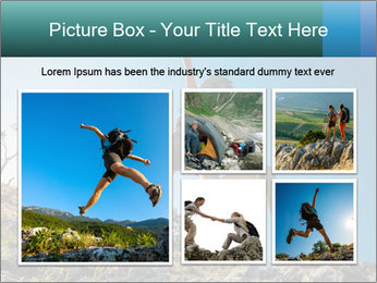 Hiker jumps PowerPoint Templates - Slide 19