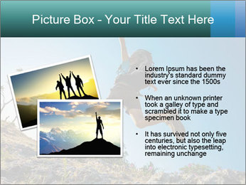 Hiker jumps PowerPoint Templates - Slide 20