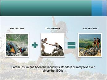 Hiker jumps PowerPoint Template - Slide 22