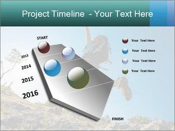 Hiker jumps PowerPoint Template - Slide 26